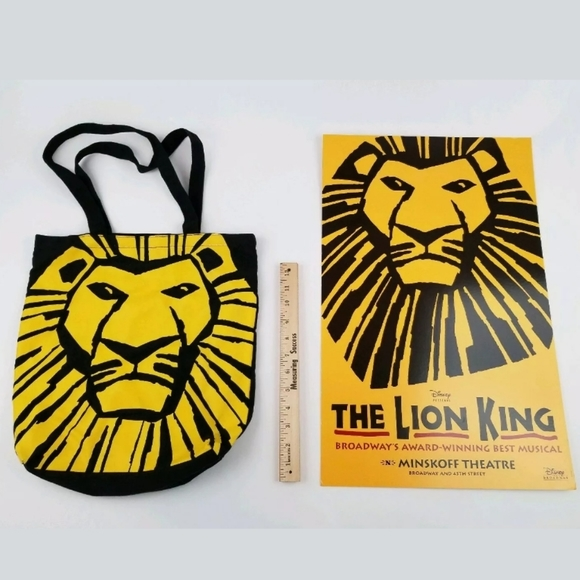 Disney Wall Art S The Lion King Broadway Poster Tote Bag Poshmark